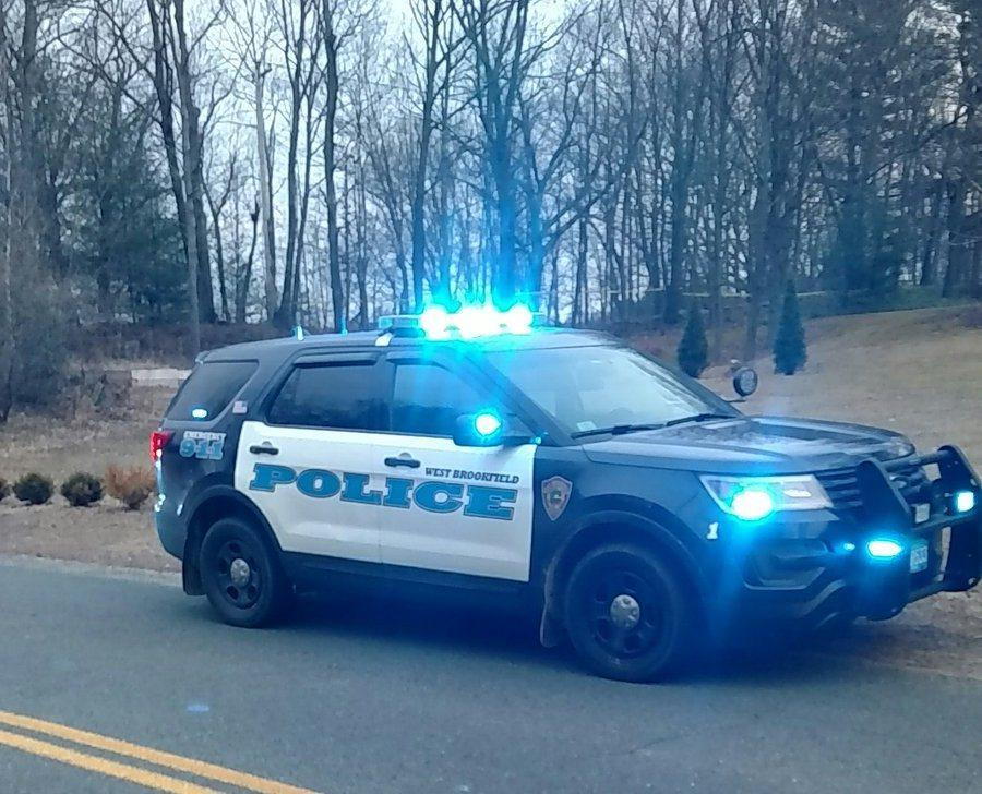 "A West Brookfield police cruiser was at the scene of a ""major incident"" on Old Warren Road Thursday."